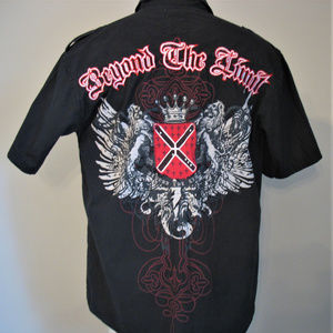 Beyond The Limit Shirts - BEYOND THE LIMIT Embroidered Short Sleeve Shirt XL
